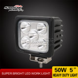 5 '' 50W IP68 CREE LED Op zwaar werk berekende Work Light