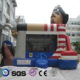 ココヤシ水子供の遊ぶことのためのデザインによってカスタマイズされる膨脹可能な水公園のおもちゃの海賊跳躍の警備員