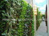 란을%s 인공적인 녹색 꽃 플랜트 벽