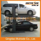 Elevador simples do estacionamento do carro de 2 espaços de armazenamento do borne dois
