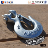 H331 Steel Drop Forged Galvanized Clevis Slip Hook with Latch