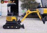Gleisketten-Exkavator-Löffelbagger-Miniexkavator