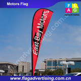 Schützen Leder Wind Resistant Vollfarbdruck Teardrop Strand-Fahne