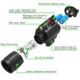 [ق5] [لد] مصباح كهربائيّ 200 تجويف صغير حمراء ليزر جهاز تسديد [كمبو] مع يرصّ سكّة حديديّة جبل