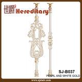 Pasamano de aluminio de lujo para la perla y el oro blanco (SJ-B037) del chalet