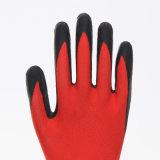 перчатка безопасности ладони латекса раковины полиэфира 13G Coated