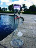 Tazón de fuente seco modelo clásico de la hierba de Hbking el fumar de cristal del tubo de agua del sujetador del hielo de la base del cubilete de 10 pulgadas