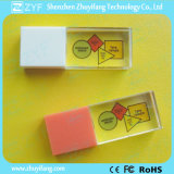 Azionamento di plastica del USB dell'a cristallo della protezione con il marchio di colore completo (ZYF1510)