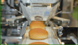 Empaquetadora del flujo del pan del Croissant del surtidor de la fábrica