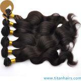 Weave человеческих волос естественной черной объемной волны бразильский