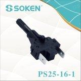 Empuje el interruptor de botón Soken PS25-16-1