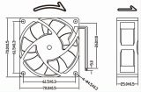 Small Powerful 12V 24V 70X70X25mm DC Fan