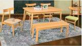 Vector de cena de madera sólida del roble y vector de cena moderno determinado de la silla