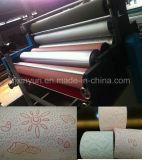 Papier hygiénique de stratification et de graver de colle de couleur petit faisant la machine