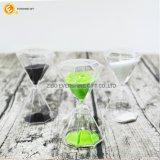 Clessidra per l'orologio di cristallo della sabbia dei regali per decorativo domestico