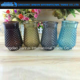 Vaso di vetro di bello disegno per la decorazione domestica