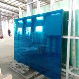 vidro laminado Tempered dobro 2134*3300mm azul de 6.38mm PVB