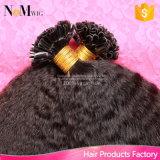 Волосы конца кератина u перуанские 1 грамм каждые волосы девственницы выдвижения человеческих волос сплавливания конца ногтя стренги перуанские Kinky прямые