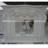 Fleurs de marbre blanches de vente chaudes de bordure de cheminée de qualité (SY-MF149)