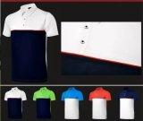 T-shirt court sec rapide de polo de golf d'hommes de chemise