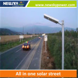 Indicatore luminoso di via solare Integrated di 90W LED con il comitato solare della batteria