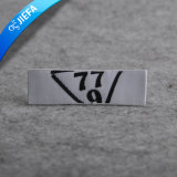 Escritura de la etiqueta principal tejida damasco de encargo blanco de la ropa del fondo