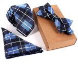 Nouvelle ligne de style coréen, vintage, soie, poche, carré, Bowtie, ensemble, maigre, cravates, ensemble