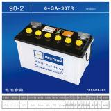 Neue 12V75ah trocknen belastete Batterie