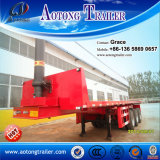 3 chassis de derrubada 40FT Flatbed do eixo 20FT para a venda