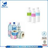 Etiqueta autoadhesiva plástica colorida ecológica de la botella de agua