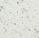 Únicas lajes da pedra de quartzo do indicador de louro da cor e bancadas artificiais de quartzo
