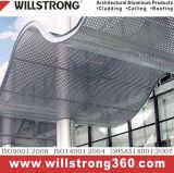 Aluminiumfurnier-blattgebäude-Fassade für Dekoration