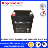 батарея AGM батареи 10hr 6V загерметизированная 4.5ah кисловочная для системы UPS