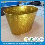 Metallisches Chrom-glänzende Goldfarben-Puder-Beschichtung