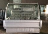 Congelador caliente de la visualización de la torta del helado de la venta para el uso comercial