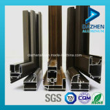 Profil en aluminium personnalisé 6063 par alliages pour la porte de guichet de glissement avec différentes couleurs