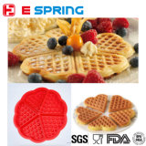 Molde do bolo do Waffle do silicone da qualidade superior FDA Certificant 5-Cavity