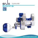 Bandspule-Fischen-Spannvorrichtungs-Aluminiumbandspule der Cynthia-Hochseefischerei-Bandspule-8+1bb super glatte rüttelnde (Cynthia 400)