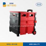 Il carrello di acquisto rosso nero del Rod del carrello dei commerci all'ingrosso di migliora