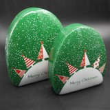 De Kerstmis Gevormde Doos van het Tin voor de Verpakking van het Suikergoed (T003-V4)