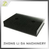 Disipador de calor de aluminio que muele sacado del CNC con la superficie anodizada