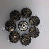 Accessoires de vêtement Graver le caoutchouc de fleur Core Jean Metal Button