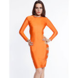 Hot Sale Senhoras de manga comprida Bodycon Sexy Dress