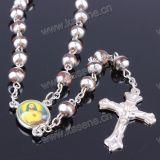 Mooie 6mm Vele Halsband van de Rozentuin van de Parel van het Glas van Kleuren Ronde, Godsdienstige Rozentuin