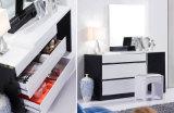 Mejor-Venta de dormitorio moderno dormitorio adulto Muebles de madera del dormitorio (H201B)