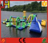 Игра парка воды, парк раздувной воды плавая, парк воды озера