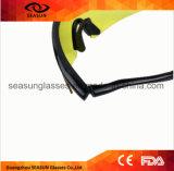 Sports tactiques multi chauds en verre de tir de la couleur X100 emballant la lunetterie de lunettes protégeant du vent
