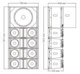 Dual 8 polegadas linha sistema do som do Woofer de 18 polegadas da disposição (EV281-118S - o TACTO)