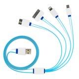 4 в 1 многофункциональном кабеле заряжателя USB универсалии