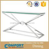 Tabella concentrare di vetro dell'acciaio inossidabile di disegno moderno